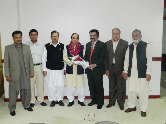 ACCI delegates congratulating Mr Mirza A Rehman For being elected as VP FPCCI